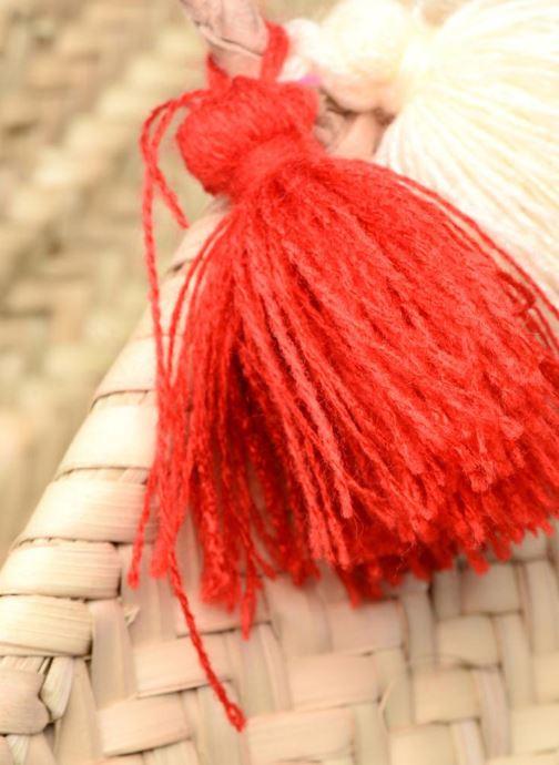 Sacs à main Etincelles Panier artisanal Cerise Rouge vue gauche