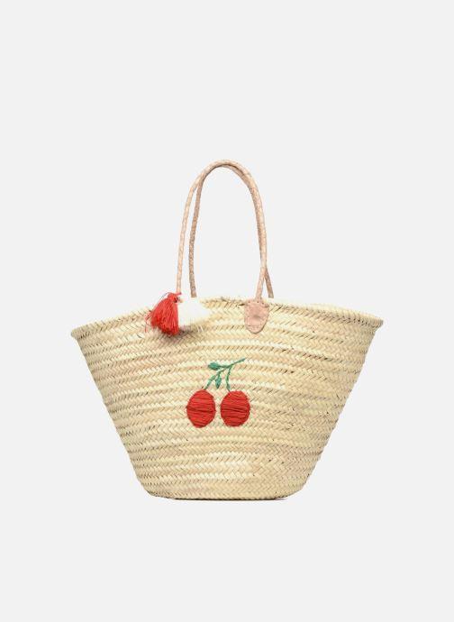 Handbags Etincelles Panier artisanal Cerise Red detailed view/ Pair view