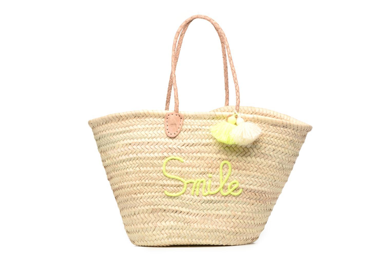 Sacs à main Etincelles Panier artisanal Smile Jaune vue détail/paire