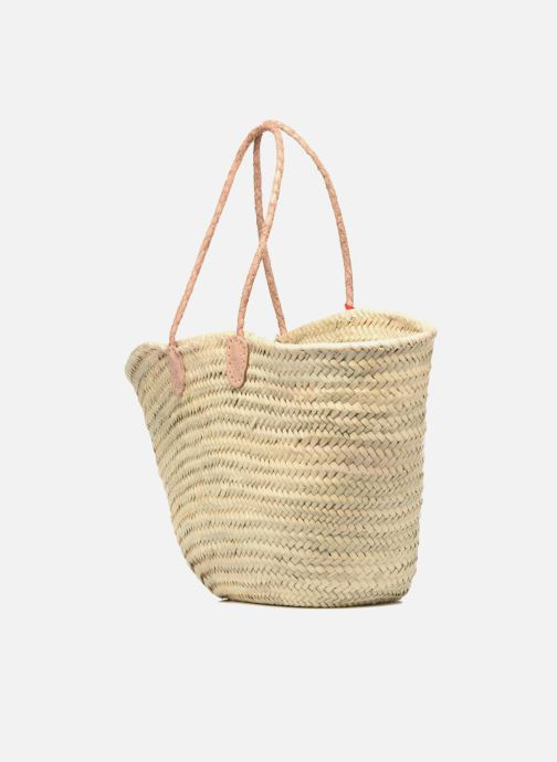 Handbags Etincelles Panier artisanal Summer Rouge Red view from the right