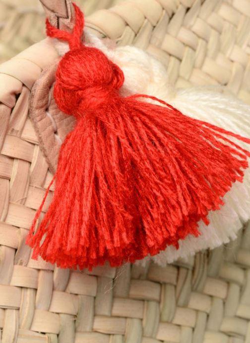 Sacs à main Etincelles Panier artisanal Summer Rouge Rouge vue gauche
