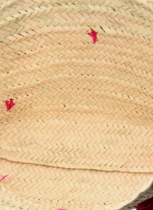 Sacs à main Etincelles Panier artisanal Pompom Fuschia Rose vue derrière