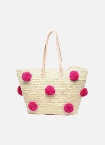 Handtaschen Taschen Panier artisanal Pompom Fuschia