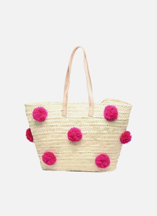Sacs à main Etincelles Panier artisanal Pompom Fuschia Rose vue détail/paire
