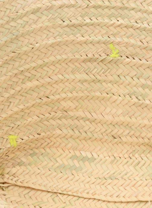 Bolsos de mano Etincelles Panier artisanal Pompom Jaune Fluo Amarillo vistra trasera