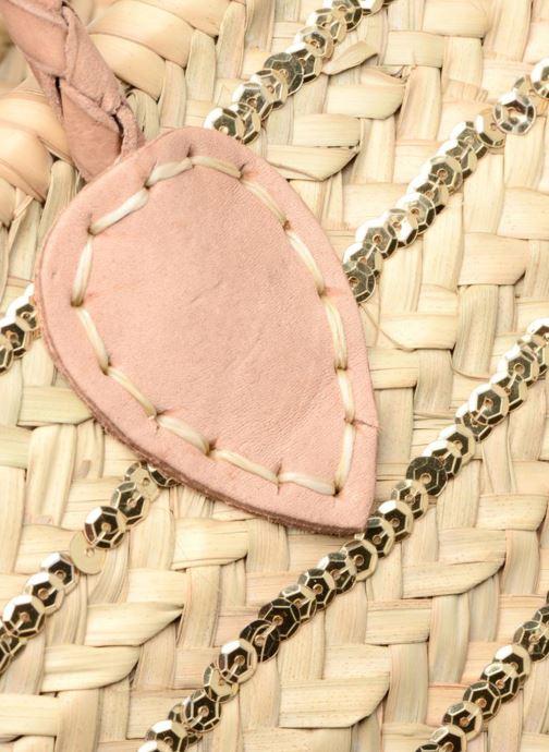 Sacs à main Etincelles Panier artisanal Rayure Sequin Or Or et bronze vue gauche