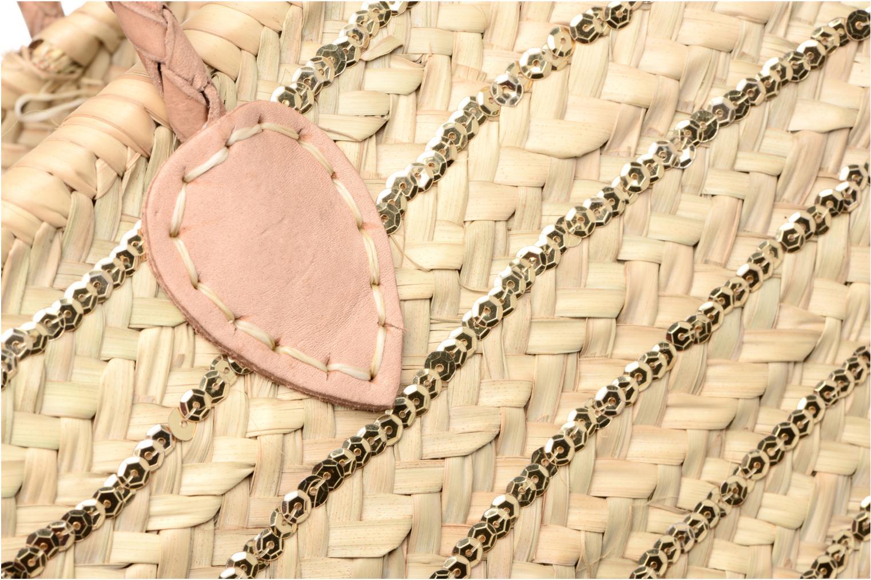 Handtassen Etincelles Panier artisanal Rayure Sequin Or Goud en brons links