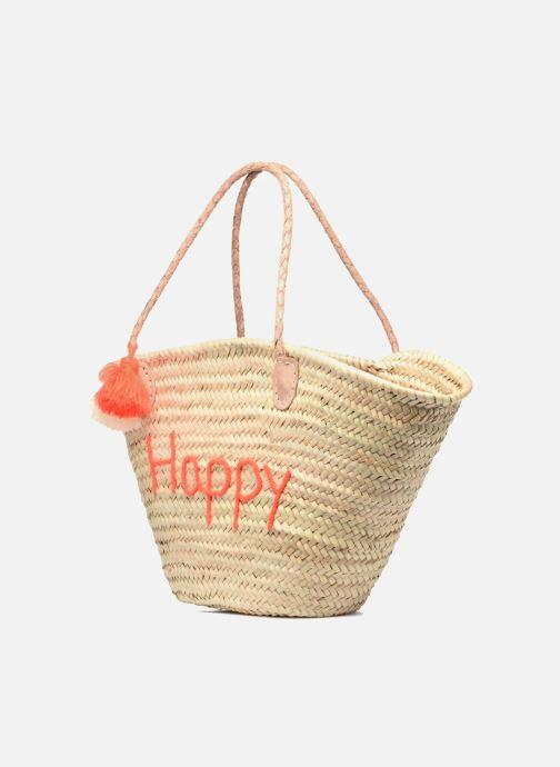 Sacs à main Etincelles Panier artisanal Happy Orange Fluo Orange vue portées chaussures