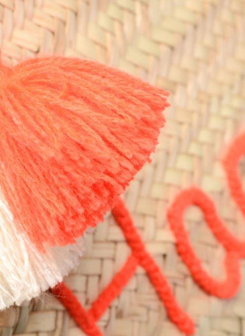 Bolsos de mano Etincelles Panier artisanal Happy Orange Fluo Naranja vista lateral izquierda