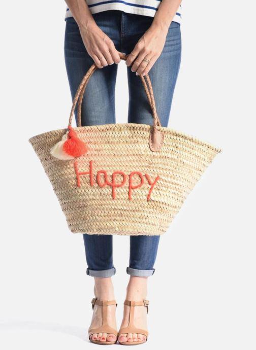 Handtassen Etincelles Panier artisanal Happy Orange Fluo Oranje onder