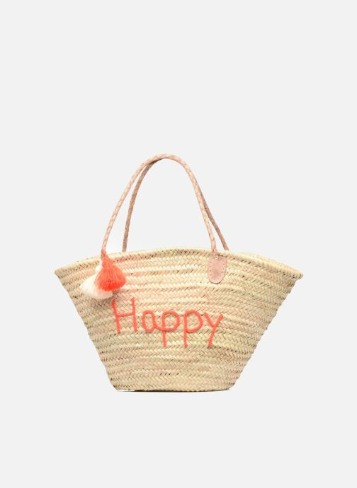 Panier artisanal Happy Orange Fluo