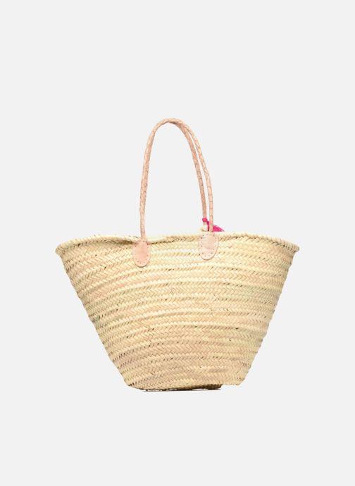 Handbags Etincelles Panier artisanal Love Fuschia Pink front view