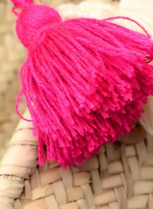 Sacs à main Etincelles Panier artisanal Love Fuschia Rose vue gauche