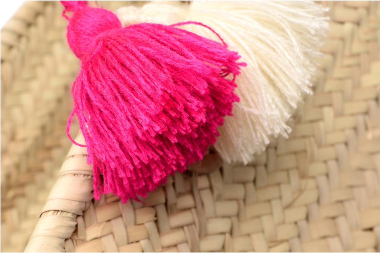 Handtassen Etincelles Panier artisanal Love Fuschia Roze links