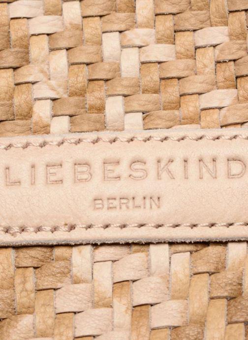 Bolsos de mano Liebeskind Berlin Oita S7 Beige vista lateral izquierda