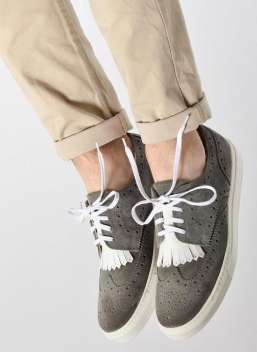 Trainers Mr SARENZA Cloris Grey view from underneath / model view