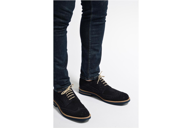 Chaussures à lacets Mr SARENZA Coquitlam Bleu vue bas / vue portée sac
