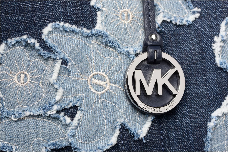 Sacs à main Michael Michael Kors DENIM ITEM XL TOTE Bleu vue gauche