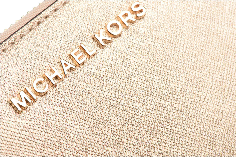 Kleine lederwaren Michael Michael Kors JET SET TRAVEL CONTINENTAL Goud en brons links