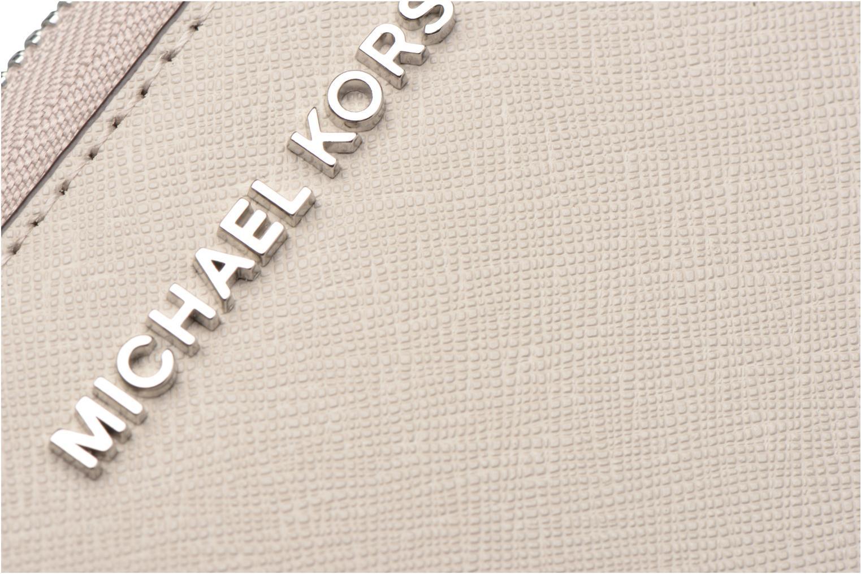 Marroquinería pequeña Michael Michael Kors JET SET LG FLATPHONE CASE Gris vista lateral izquierda