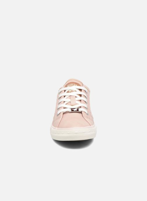 Baskets Mustang shoes Axmon Rose vue portées chaussures
