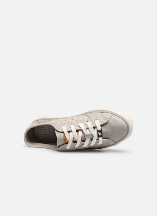 Sneaker Mustang shoes Axmon grau ansicht von links