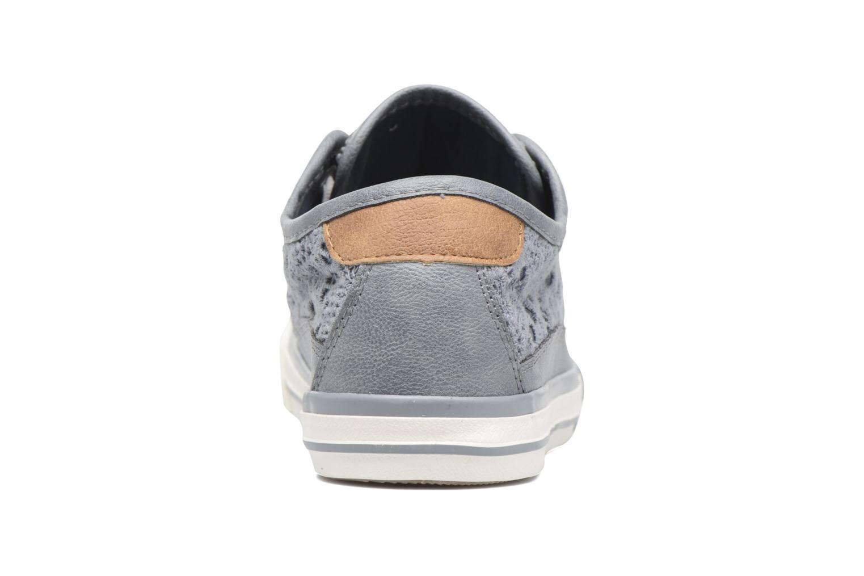 Baskets Mustang shoes Smith N Bleu vue droite
