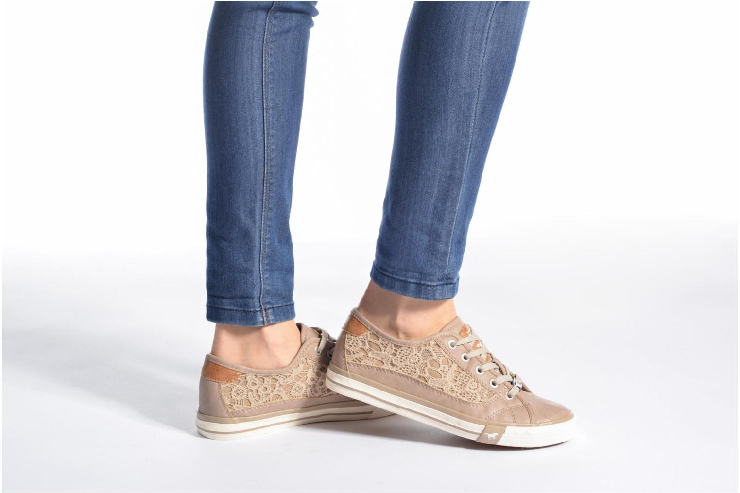 Sneakers Mustang shoes Smith N Beige immagine dal basso
