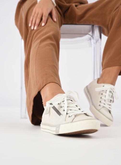 Baskets Mustang shoes Malsa ZIP Blanc vue bas / vue portée sac