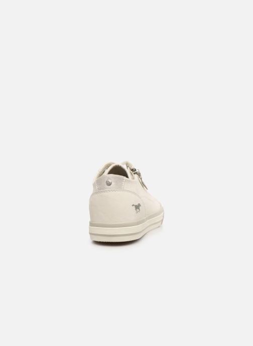 Baskets Mustang shoes Malsa ZIP Blanc vue droite