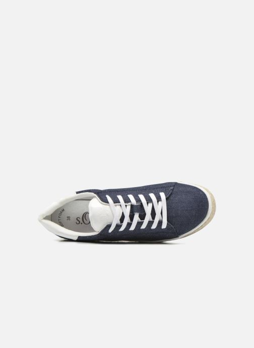 Trainers S.Oliver Mirabelle Blue view from the left