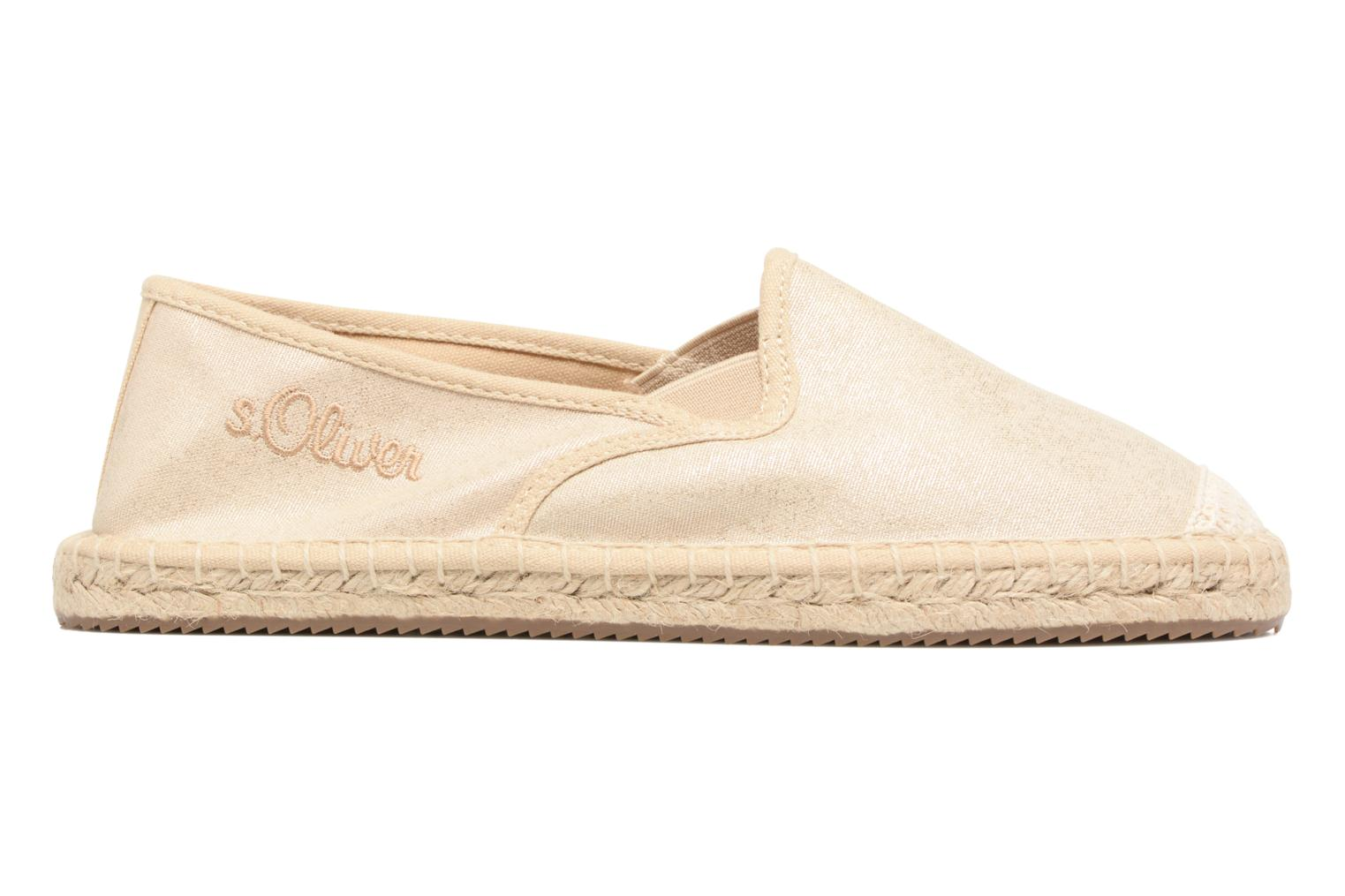 Espadrilles S.Oliver Sapotille Bronze and Gold back view