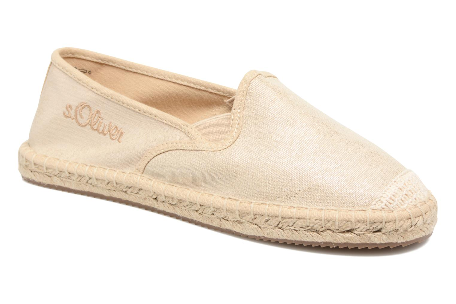 Espadrilles S.Oliver Sapotille Bronze and Gold detailed view/ Pair view