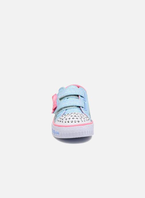 Baskets Skechers Shuffles Starlight Style Gris vue portées chaussures
