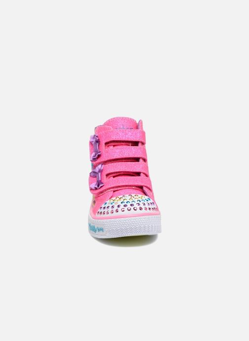 Sneakers Skechers Shuffles Baby Talk Multicolore modello indossato