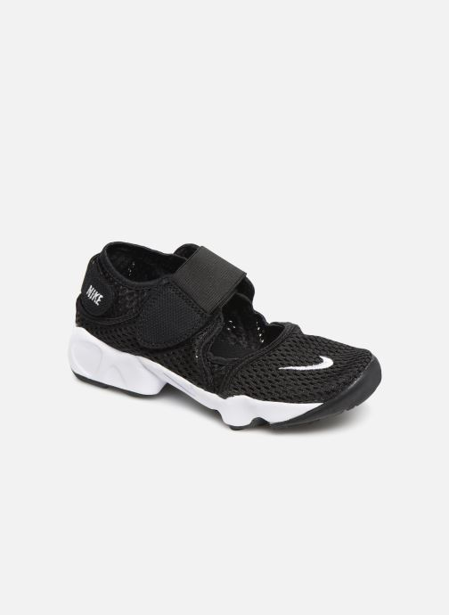 Sandalias Nike Rift (Gs/Ps Boys) Negro vista de detalle / par