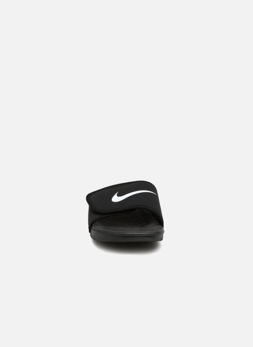Sandales et nu-pieds Nike Nike Kawa Adjust (Gs/Ps) Noir vue portées chaussures