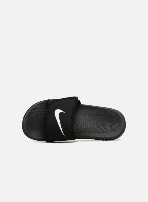 Sandales et nu-pieds Nike Nike Kawa Adjust (Gs/Ps) Noir vue gauche