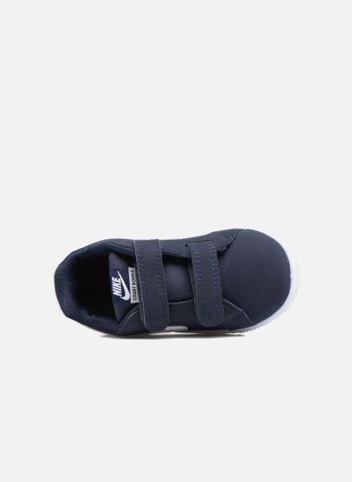 Deportivas Nike Nike Court Royale (Tdv) Azul vista lateral izquierda
