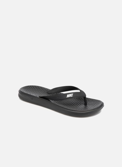 Tongs Nike Nike Solay Thong (Gs/Ps) Noir vue détail/paire