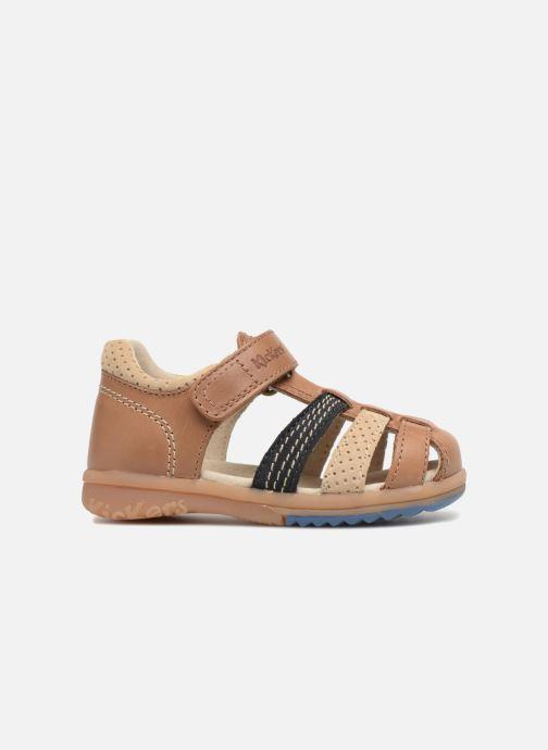 Sandales et nu-pieds Kickers Platiback Marron vue derrière