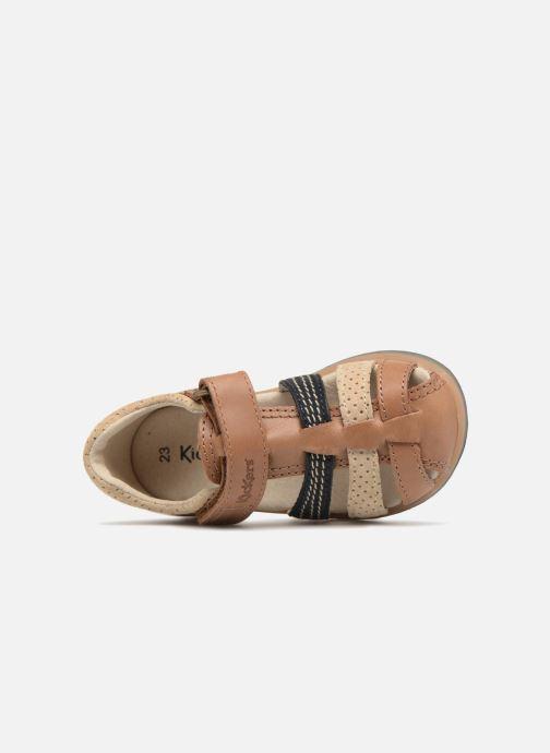 Sandales et nu-pieds Kickers Platiback Marron vue gauche