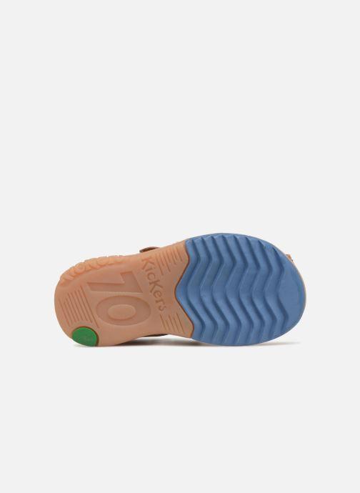 Sandales et nu-pieds Kickers Platiback Marron vue haut