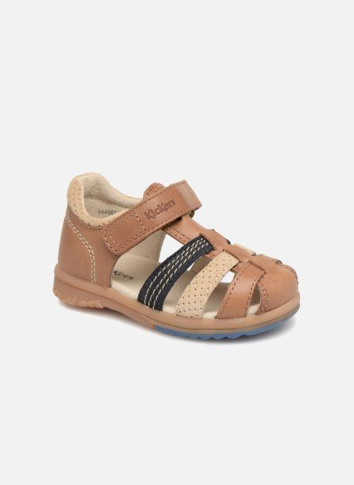 Sandales et nu-pieds Kickers Platiback Marron vue détail/paire