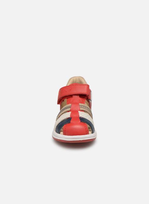 Sandales et nu-pieds Kickers Platiback Rouge vue portées chaussures