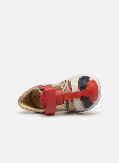 Sandaler Kickers Platiback Rød se fra venstre