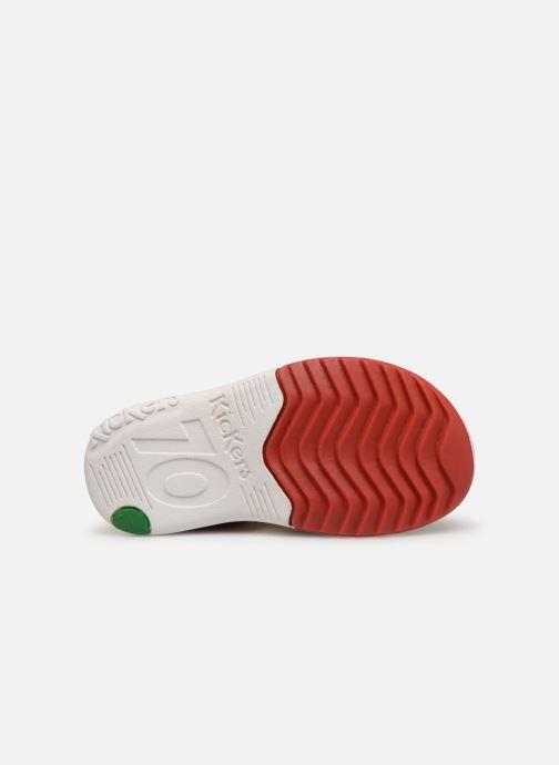 Sandales et nu-pieds Kickers Platiback Rouge vue haut