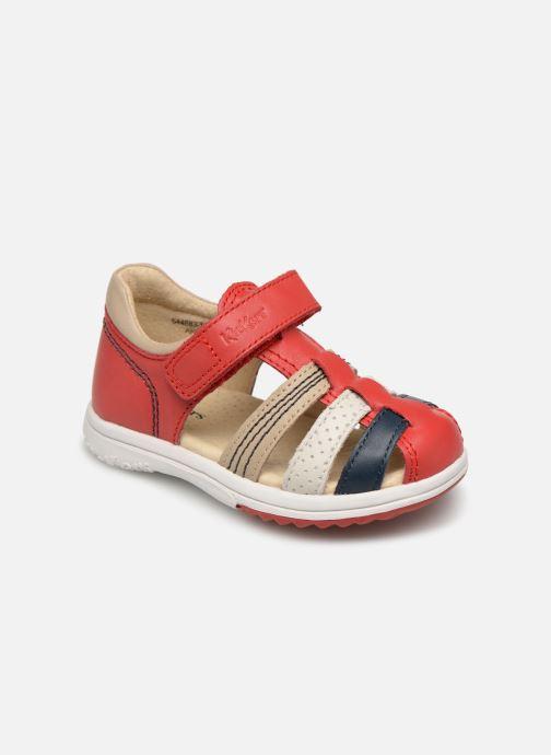 Sandales et nu-pieds Kickers Platiback Rouge vue détail/paire