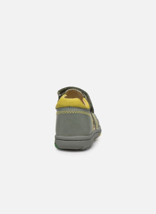 Sandales et nu-pieds Kickers Platiback Vert vue droite