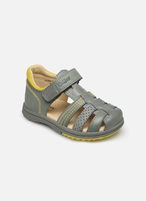 Sandales et nu-pieds Kickers Platiback Vert vue détail/paire